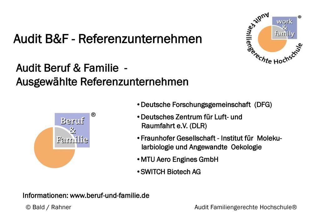 Audit B&F - Referenzunternehmen
