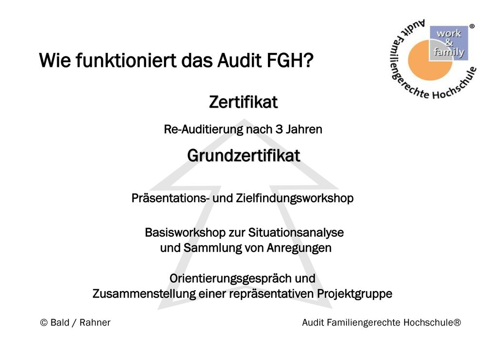 Wie funktioniert das Audit FGH