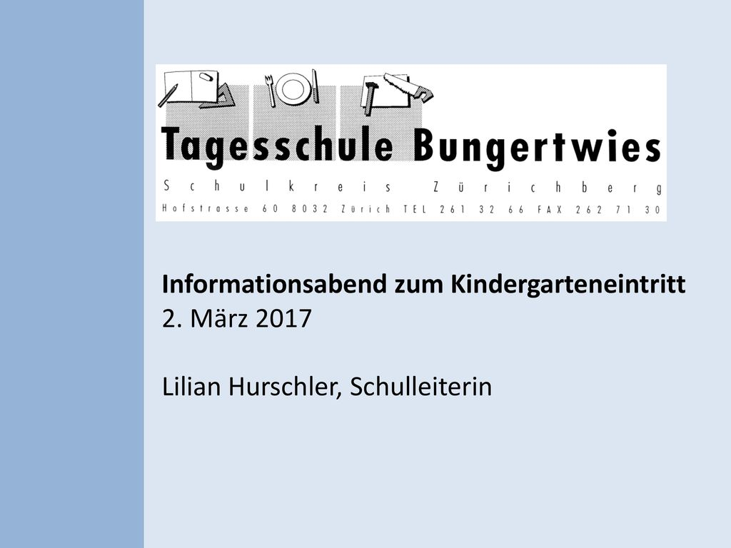Informationsabend zum Kindergarteneintritt