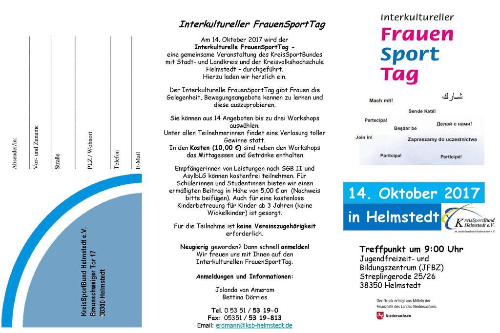 14. Oktober 2017 in Helmstedt Interkultureller FrauenSportTag