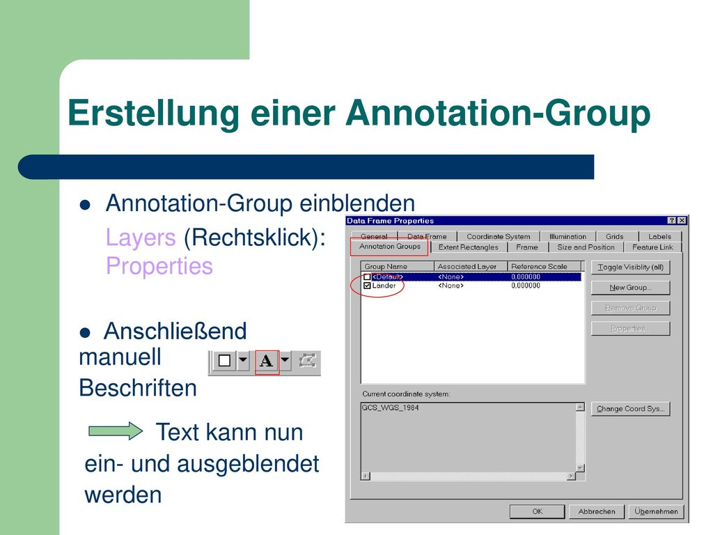 Erstellung einer Annotation-Group