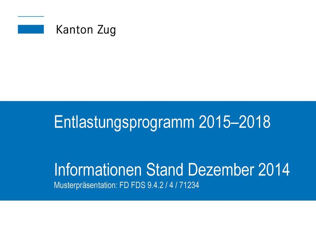 Entlastungsprogramm 2015–2018