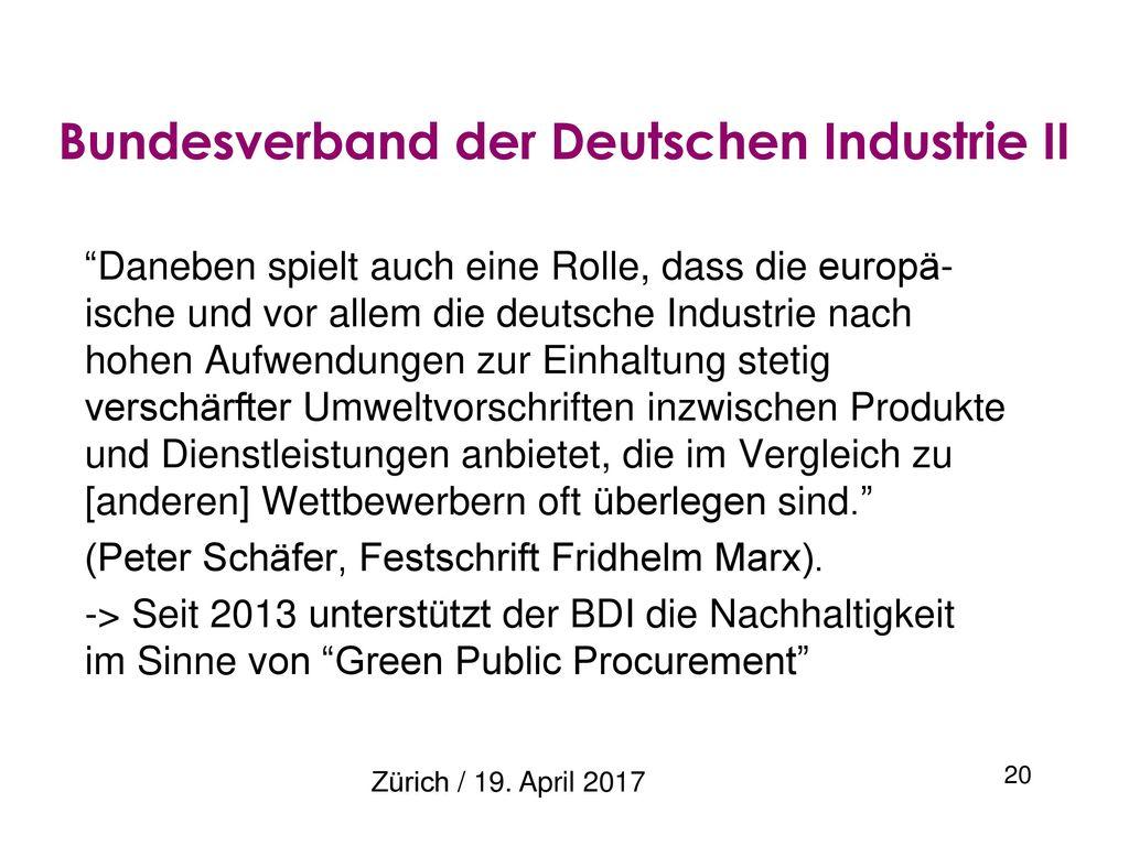 Bundesverband der Deutschen Industrie II