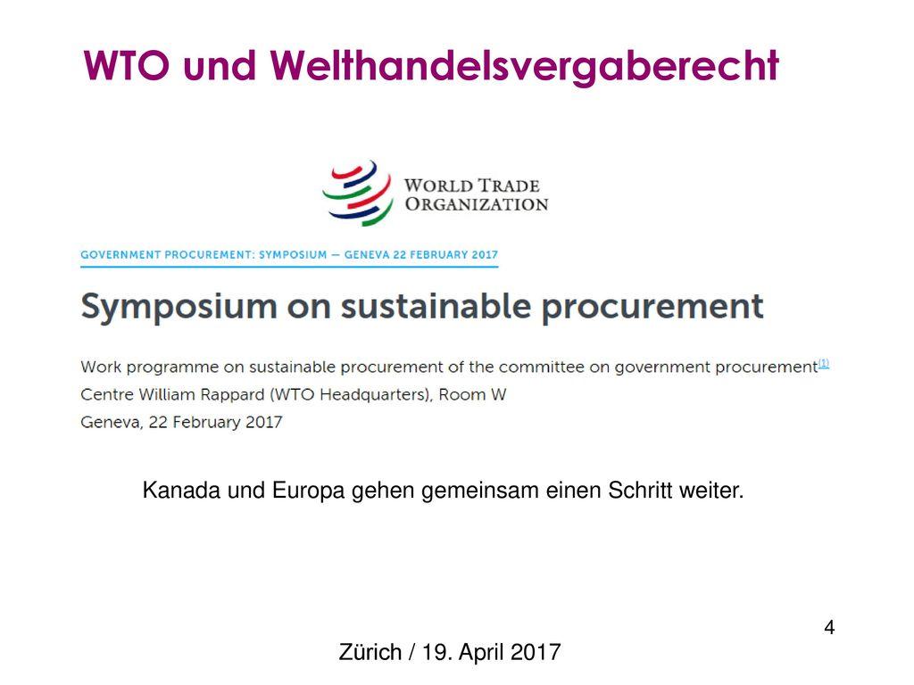 WTO und Welthandelsvergaberecht
