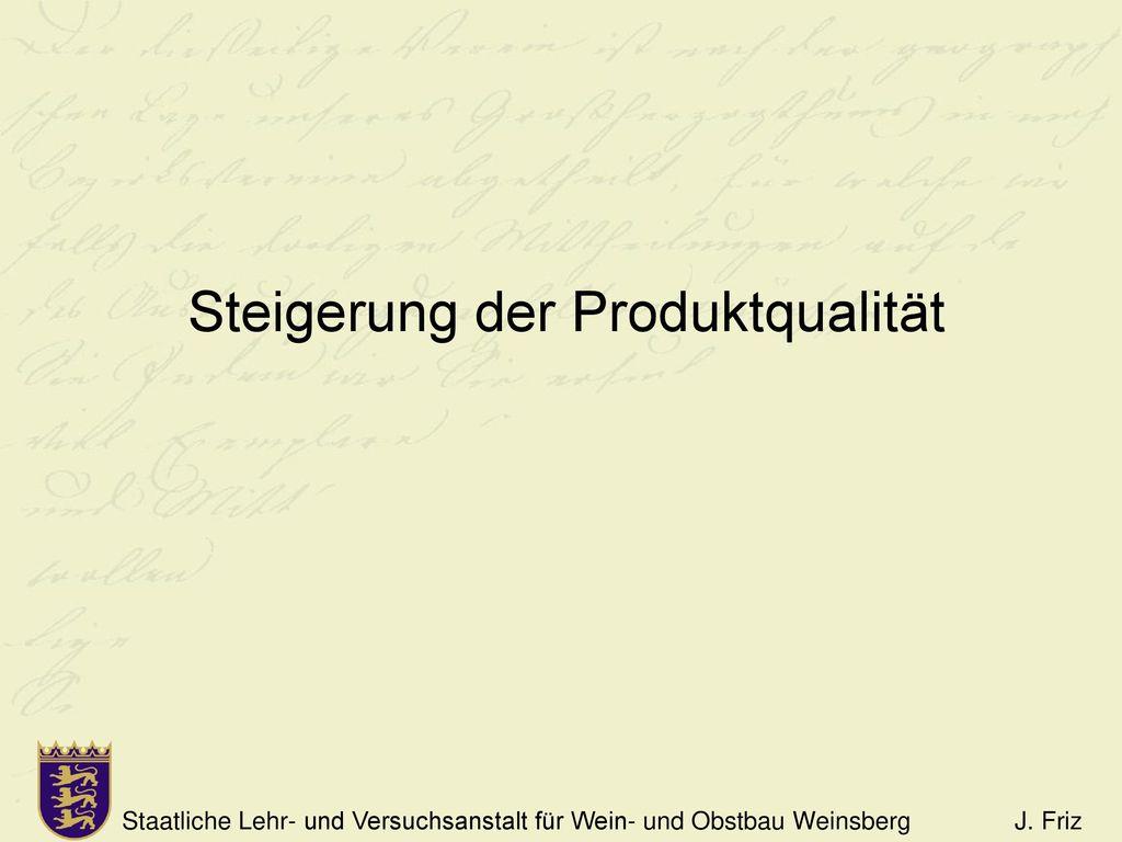 Steigerung der Produktqualität