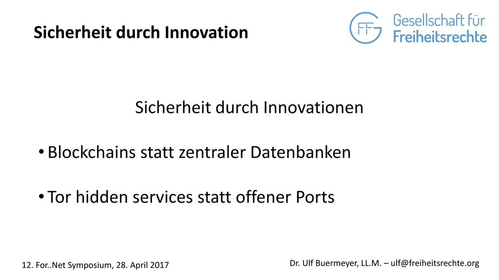 Sicherheit durch Innovationen