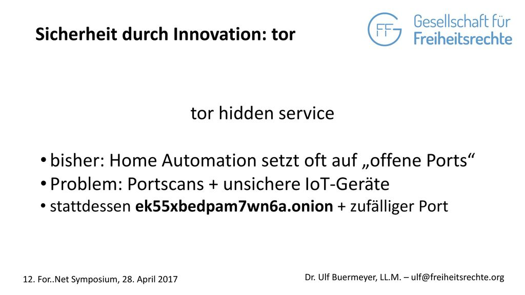 Sicherheit durch Innovation: tor