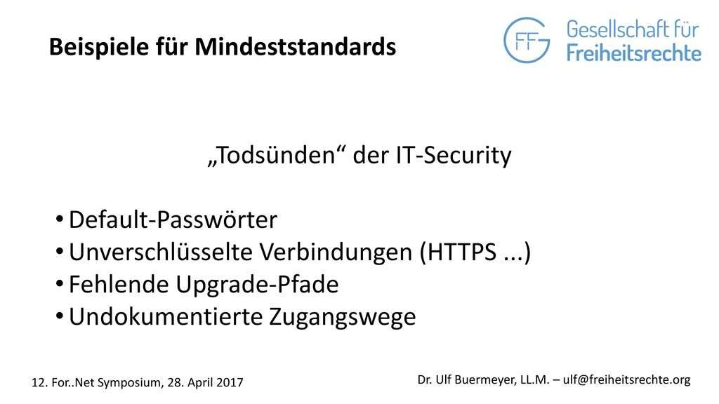 """Todsünden der IT-Security"