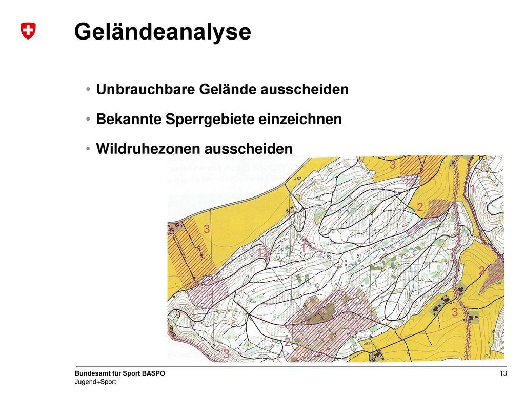 Geländeanalyse Unbrauchbare Gelände ausscheiden