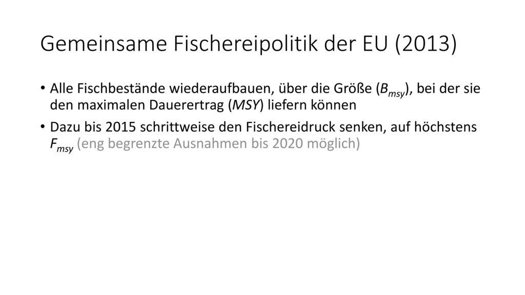 Gemeinsame Fischereipolitik der EU (2013)