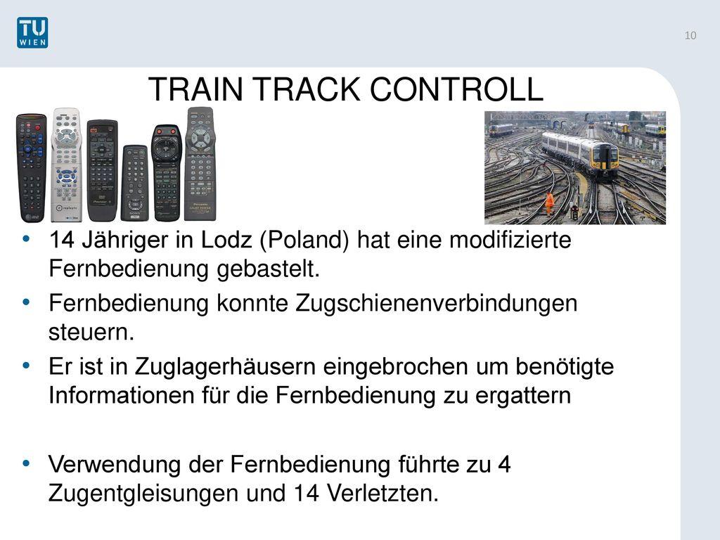 TRAIN TRACK CONTROLL 14 Jähriger in Lodz (Poland) hat eine modifizierte Fernbedienung gebastelt.