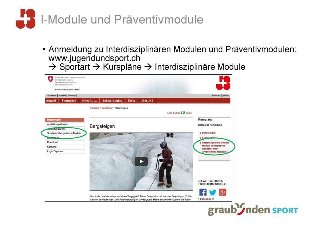 I-Module und Präventivmodule