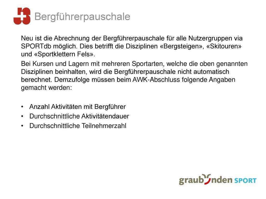 Bergführerpauschale