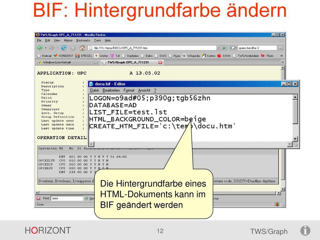 BIF: Hintergrundfarbe ändern