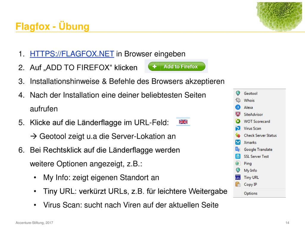 Ghostery - Übung WWW.GHOSTERY.COM in Browser eingeben