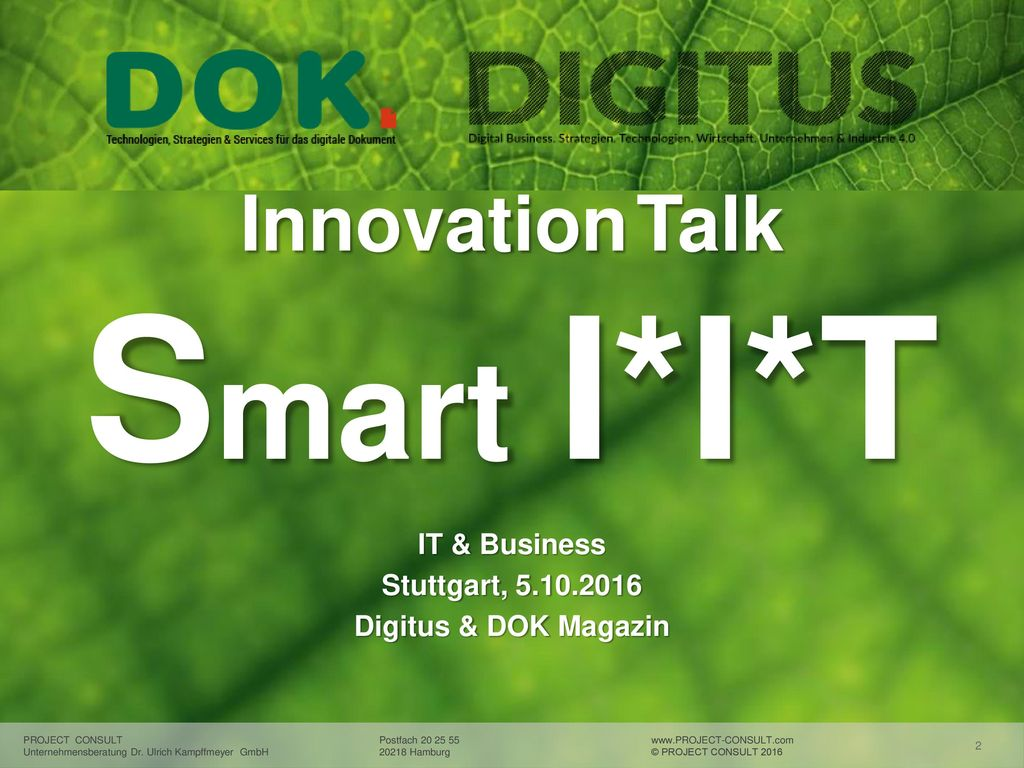 Innovation Talk Smart I*I*T