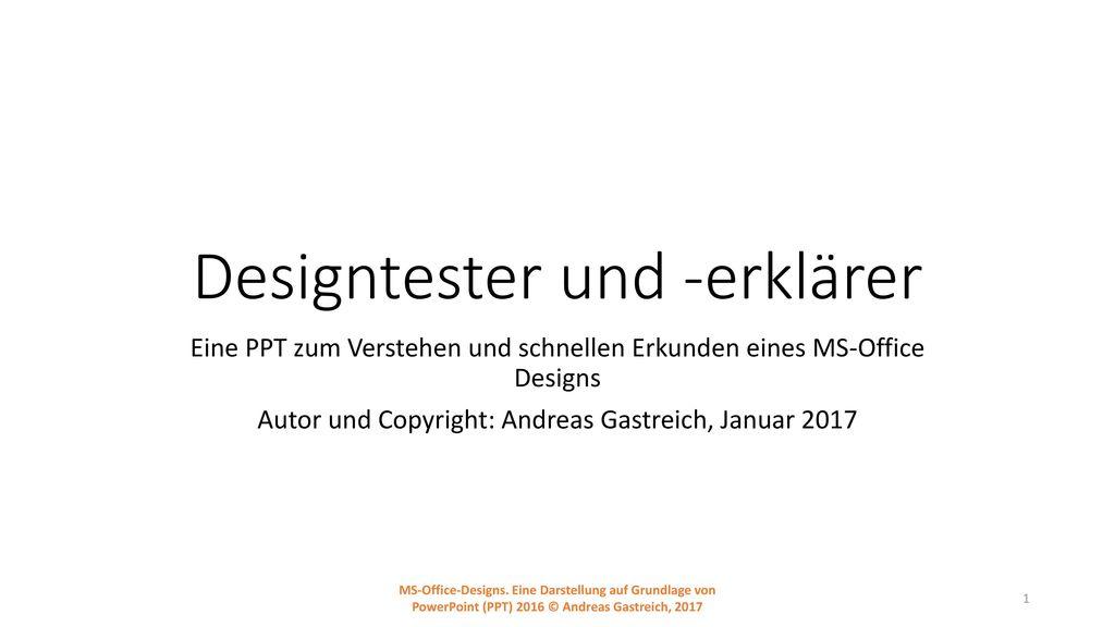 Designtester und -erklärer