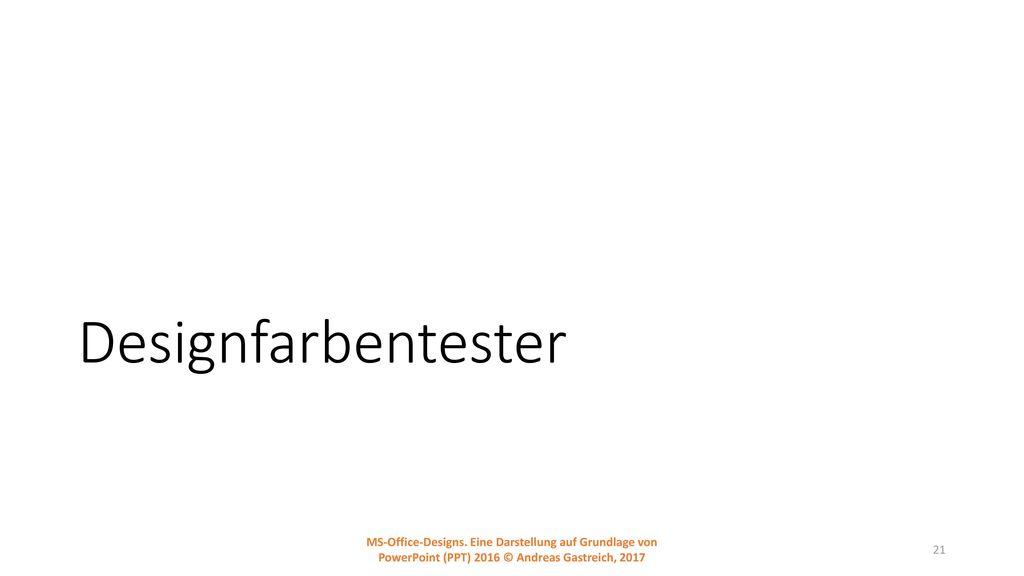 Designfarbentester MS-Office-Designs.