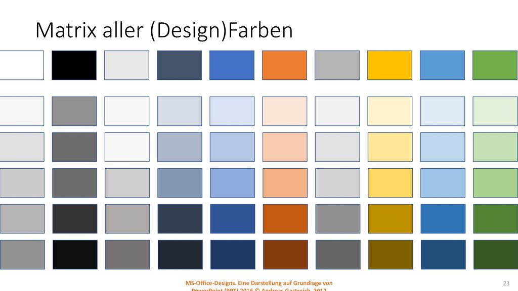 Matrix aller (Design)Farben