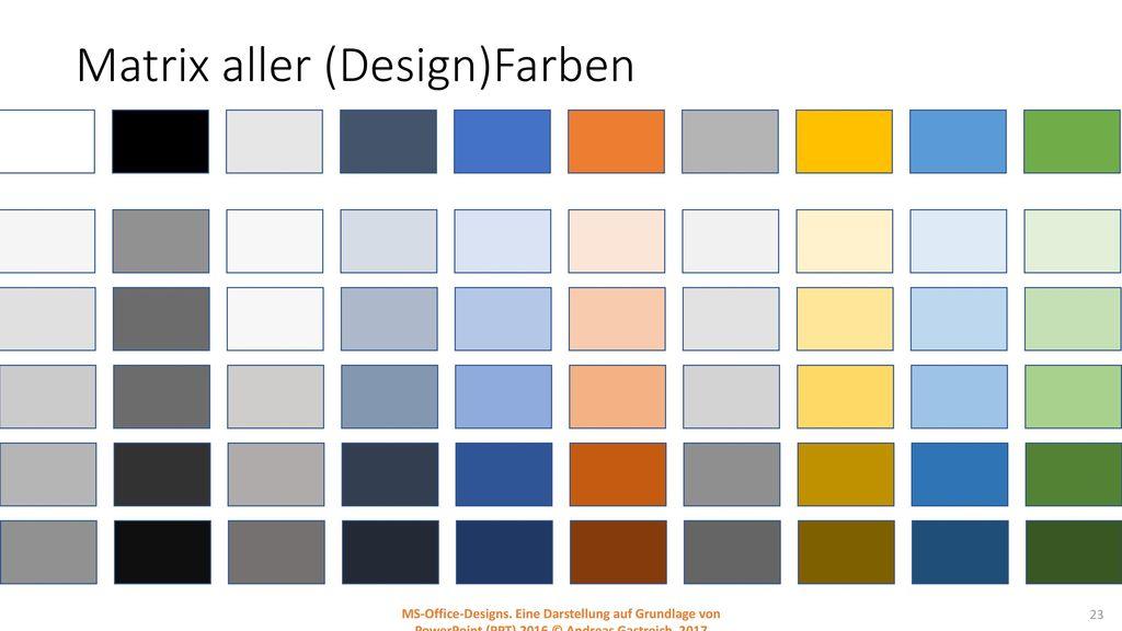 Matrix aller (Design)Farben