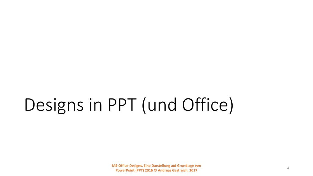 Designs in PPT (und Office)
