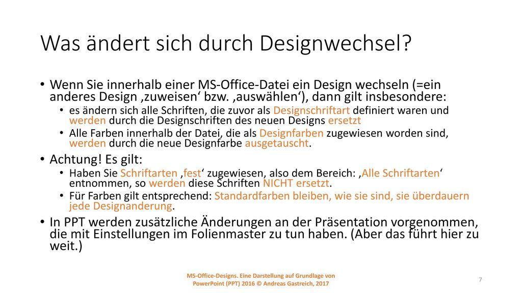 Was ändert sich durch Designwechsel