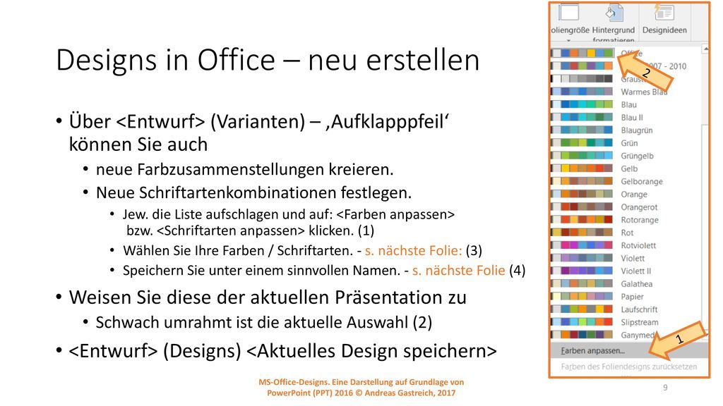 Designs in Office – neu erstellen