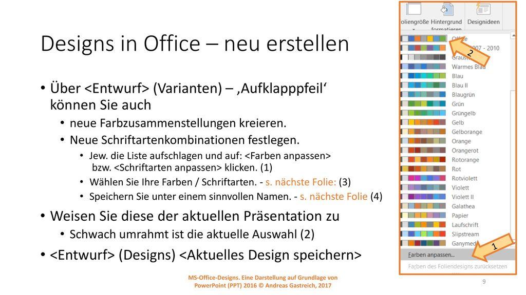 Designs in Office – neu erstellen
