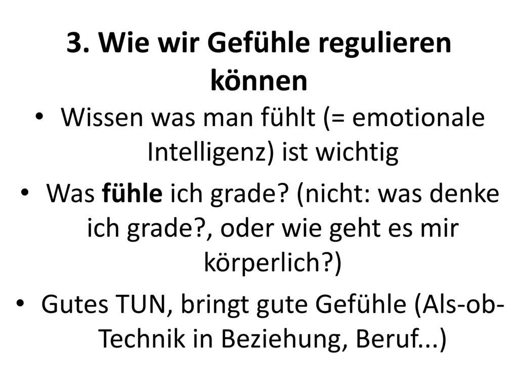 3. Wie wir Gefühle regulieren können