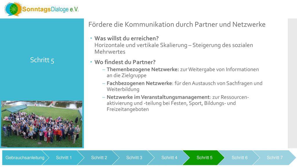 Fördere die Kommunikation durch Partner und Netzwerke