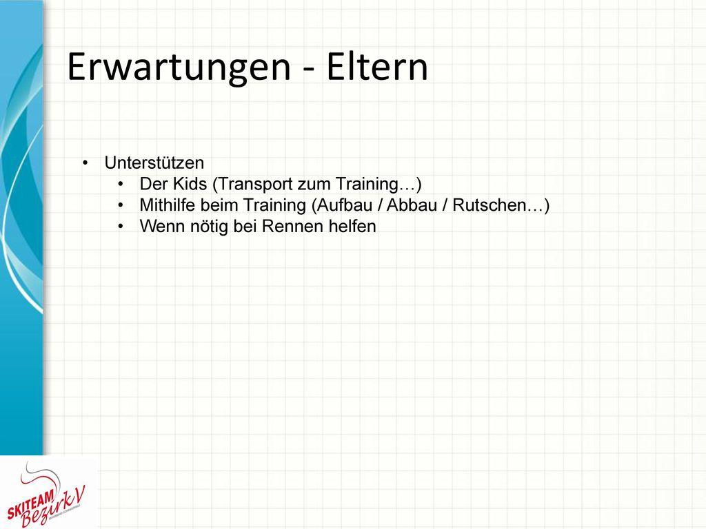 Erwartungen - Eltern Unterstützen Der Kids (Transport zum Training…)