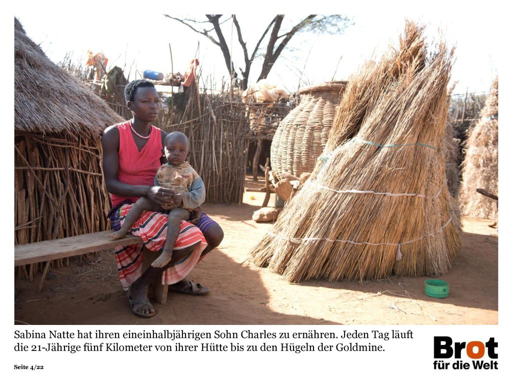 Sabina Natte hat ihren eineinhalbjährigen Sohn Charles zu ernähren