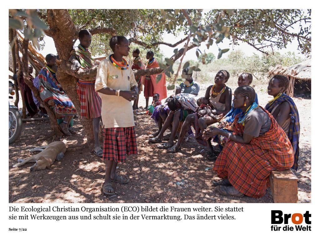 Die Ecological Christian Organisation (ECO) bildet die Frauen weiter