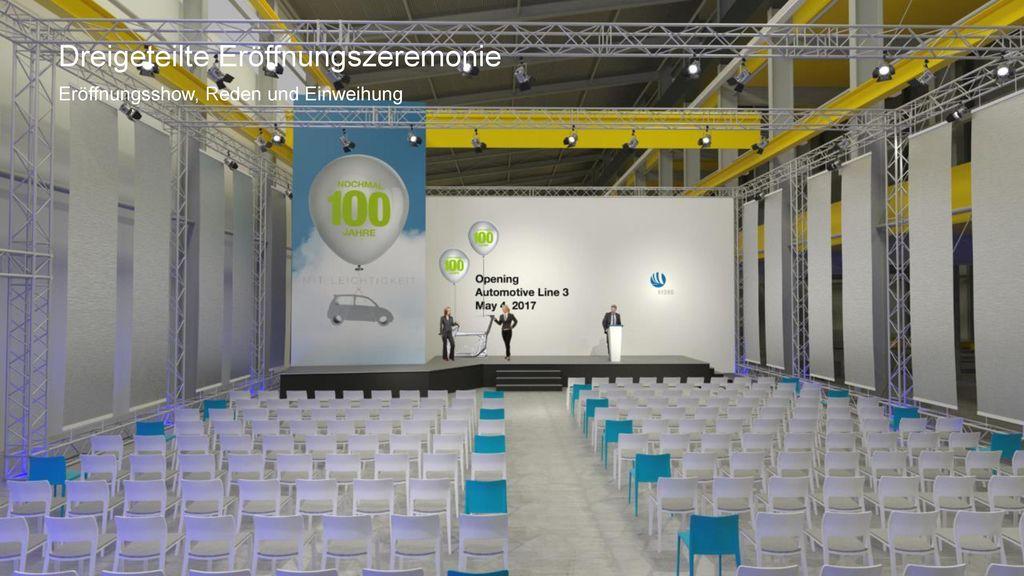 Dreigeteilte Eröffnungszeremonie