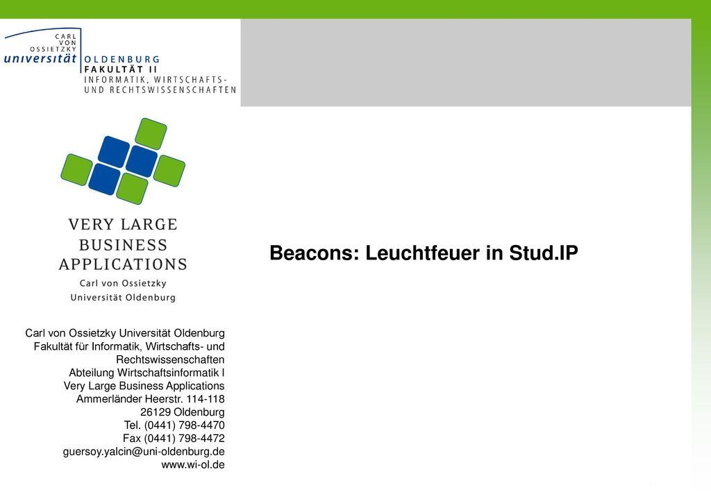 Beacons: Leuchtfeuer in Stud.IP