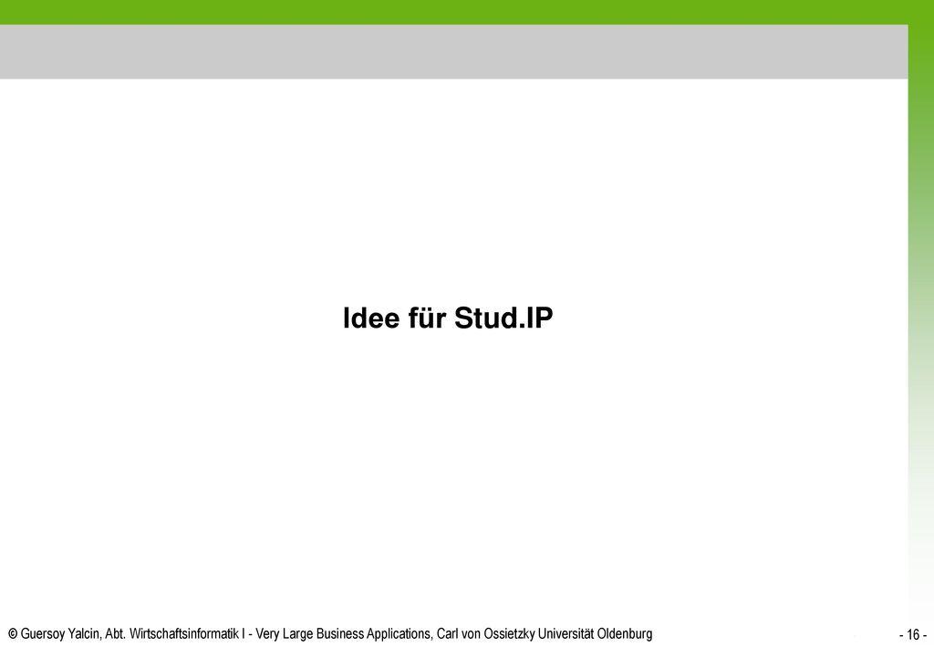 Idee für Stud.IP