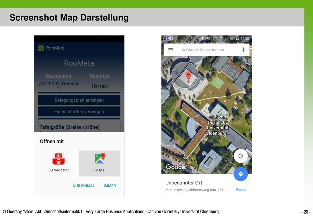 Screenshot Map Darstellung