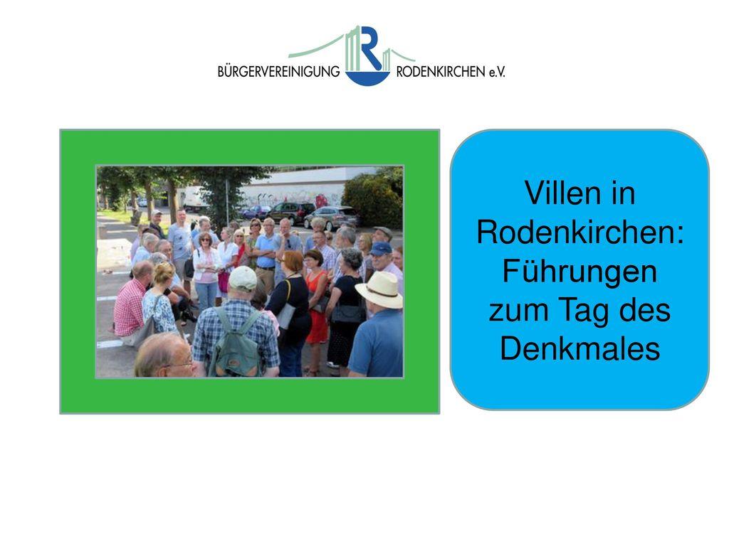 Villen in Rodenkirchen: Führungen zum Tag des Denkmales