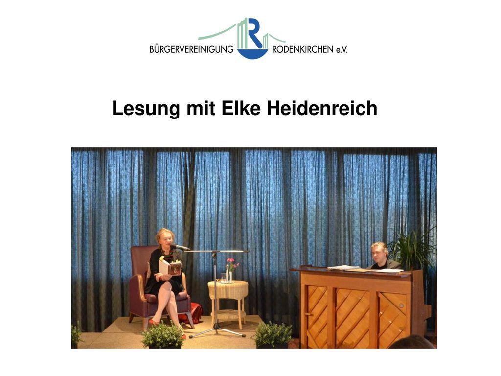 Lesung mit Elke Heidenreich