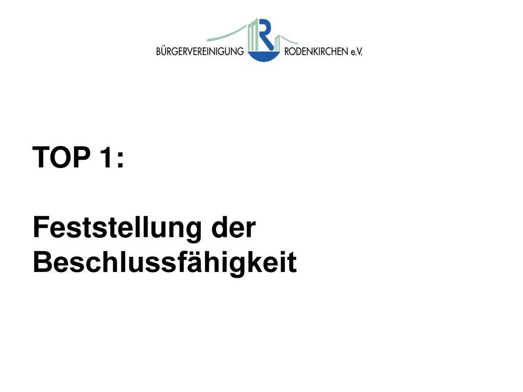 TOP 1: Feststellung der Beschlussfähigkeit