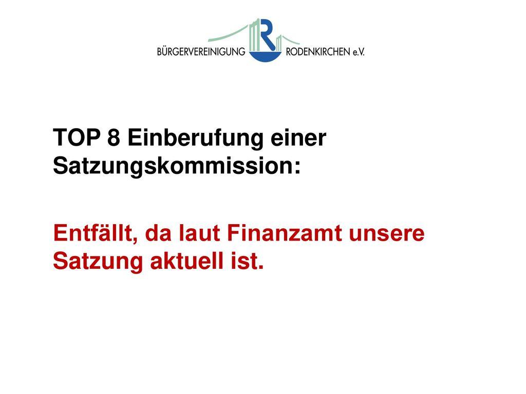 Wahlen Wahlen der Kassenprüfer: Vorschläge: