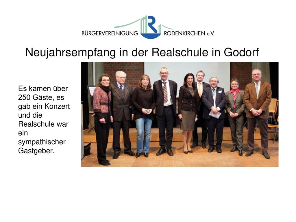Neujahrsempfang in der Realschule in Godorf