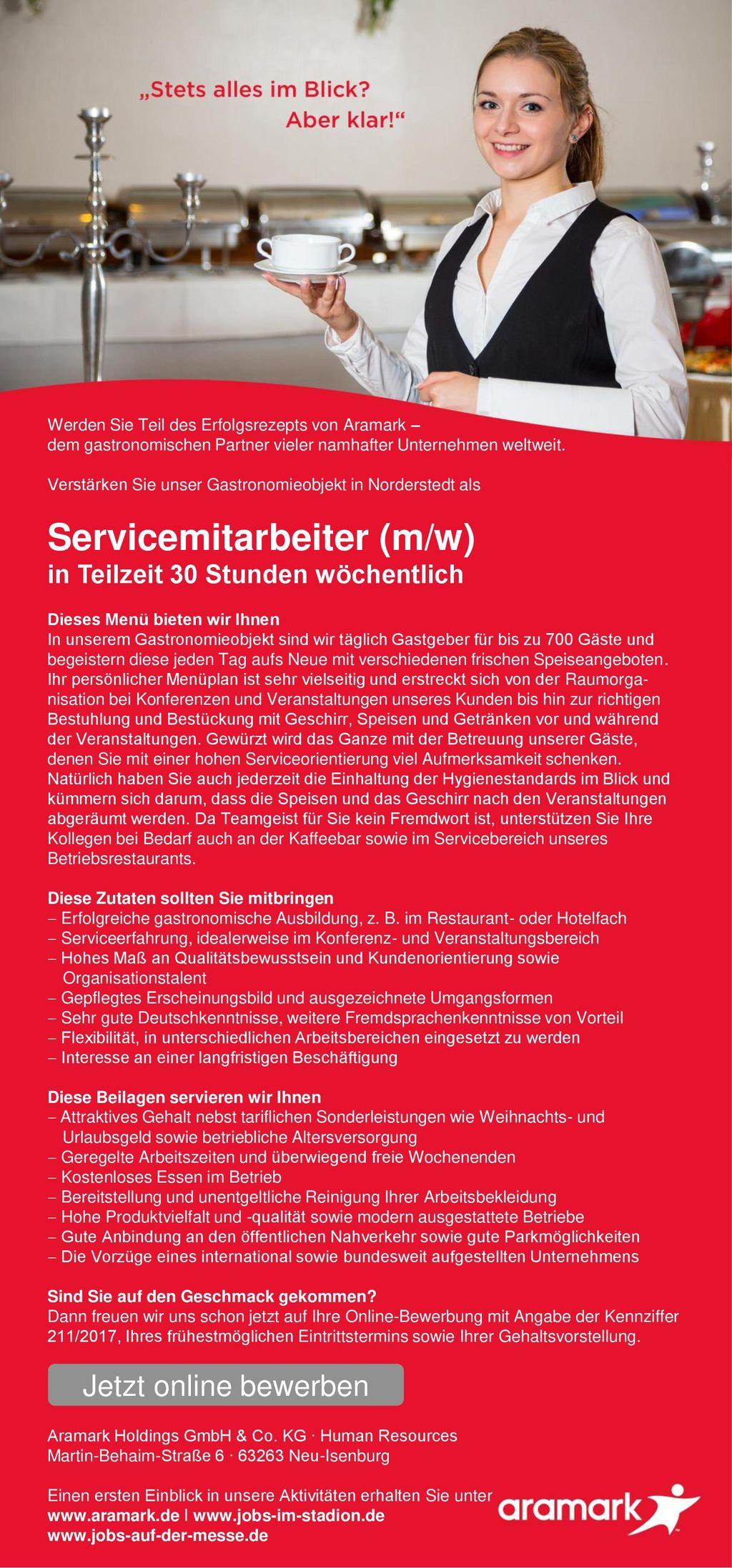 Servicemitarbeiter (m/w)