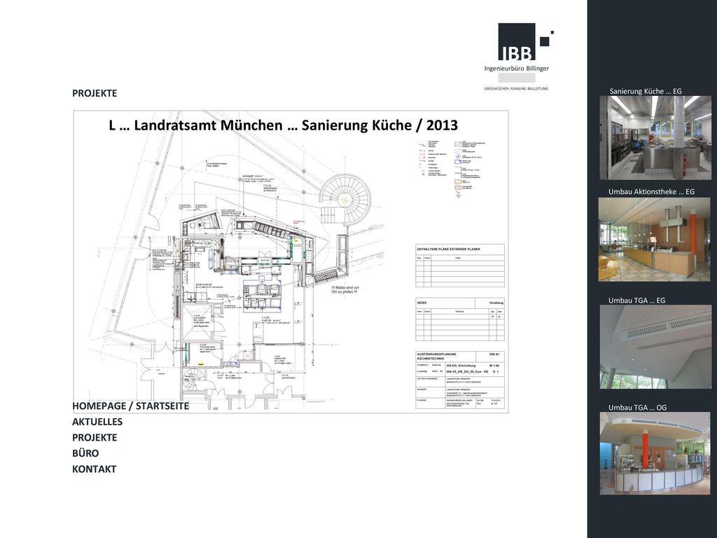 L … Landratsamt München … Sanierung Küche / 2013