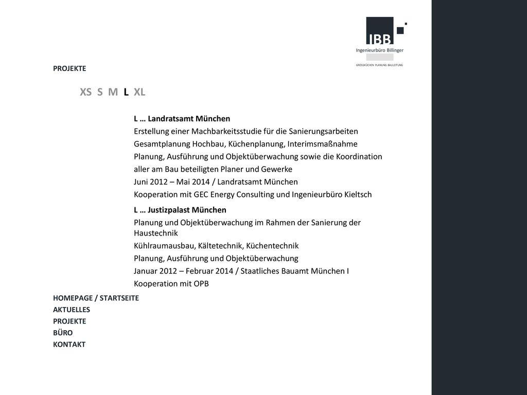 XS S M L XL L … Landratsamt München