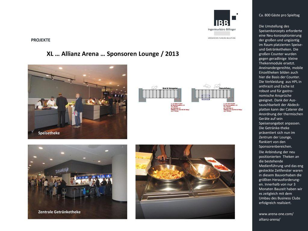 XL … Allianz Arena … Sponsoren Lounge / 2013