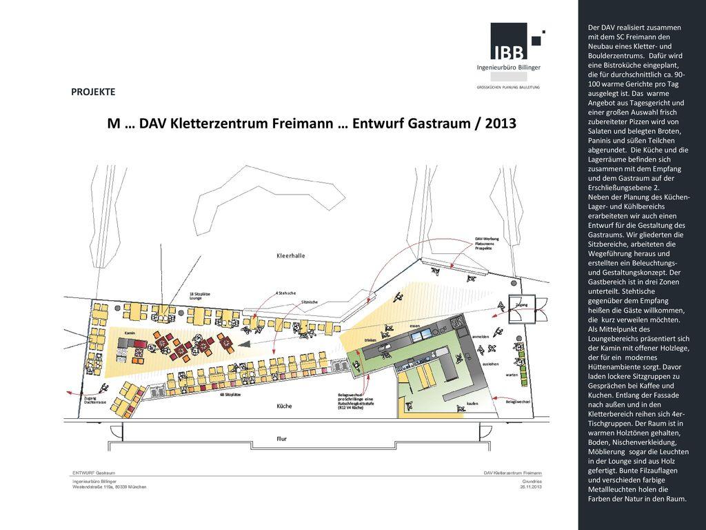 M … DAV Kletterzentrum Freimann … Entwurf Gastraum / 2013
