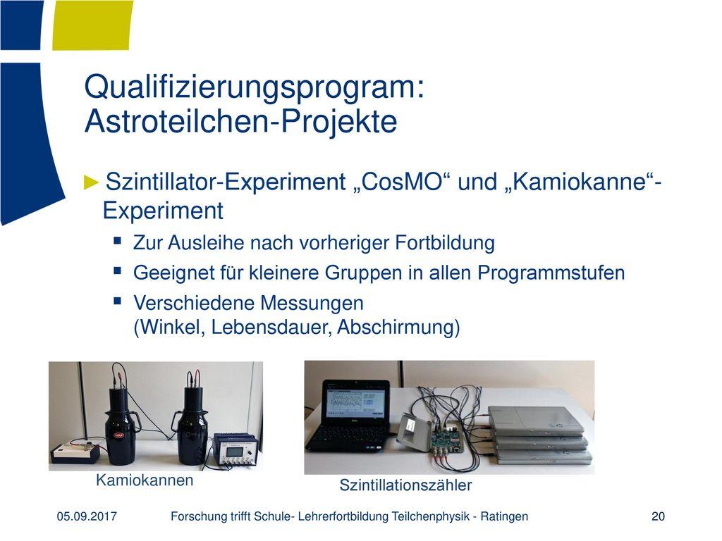 Qualifizierungsprogram: Astroteilchen-Projekte