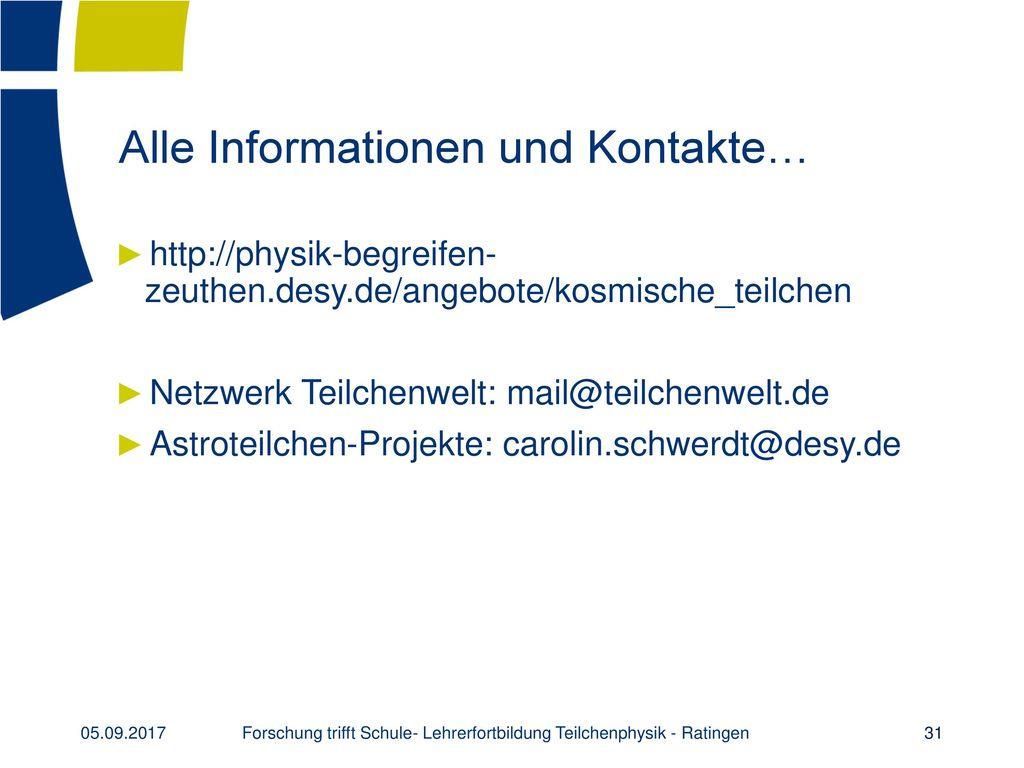 Alle Informationen und Kontakte…