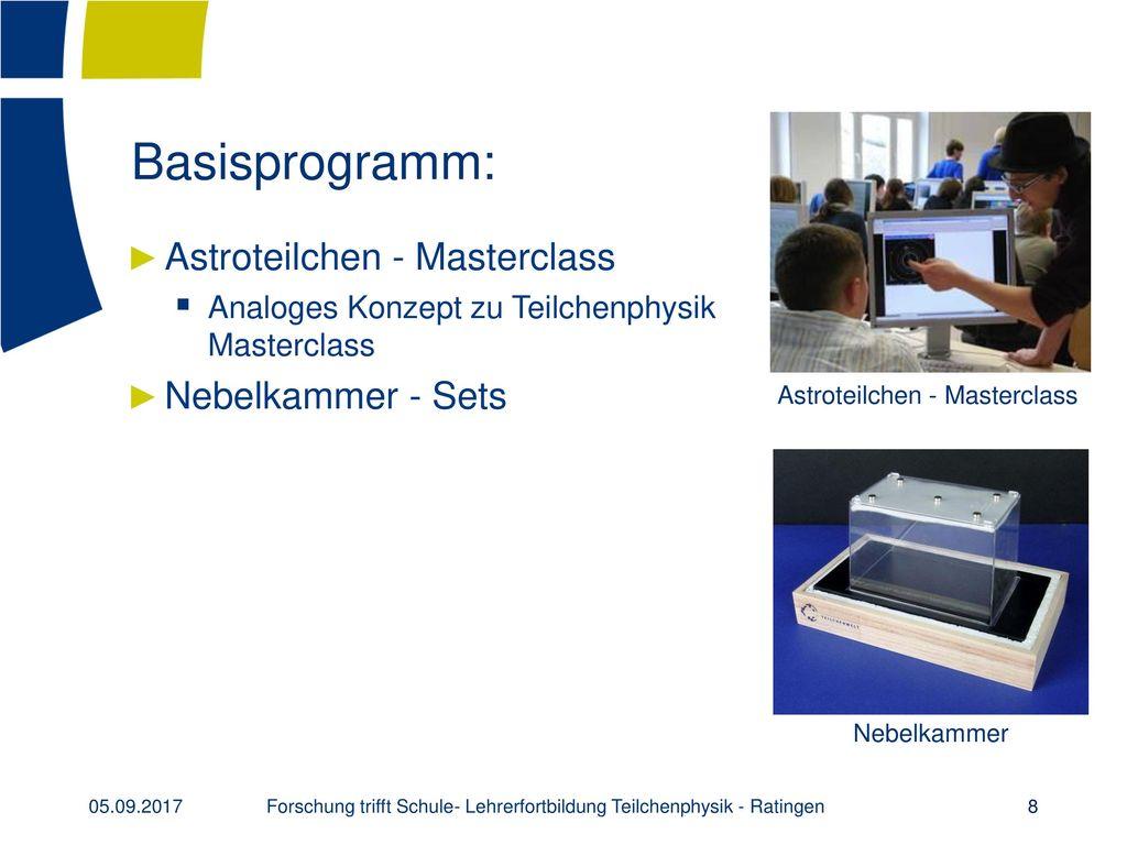 Basisprogramm: Astroteilchen - Masterclass Nebelkammer - Sets